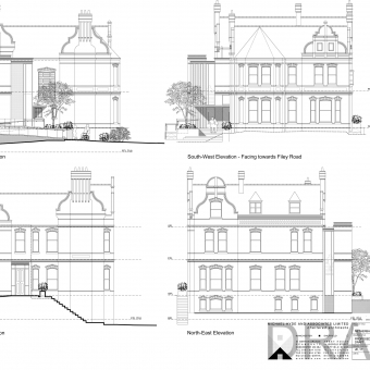A new core was proposed to provide access to three flats varying in level. More samples are available under 'General'.