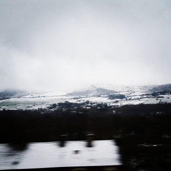 Photograph captured in March 2017 on the train line between Huddersfield and Manchester. Facing South towards the Peaks.