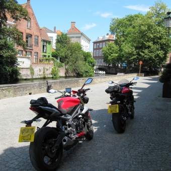 First time on the road in Belgium, first time abroad on my Triumph. Excellent weather, great place and fantastic people. Great to see family again. Summer 2016.