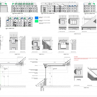 A drawing produced for the Hazel Grove project, using Revit.